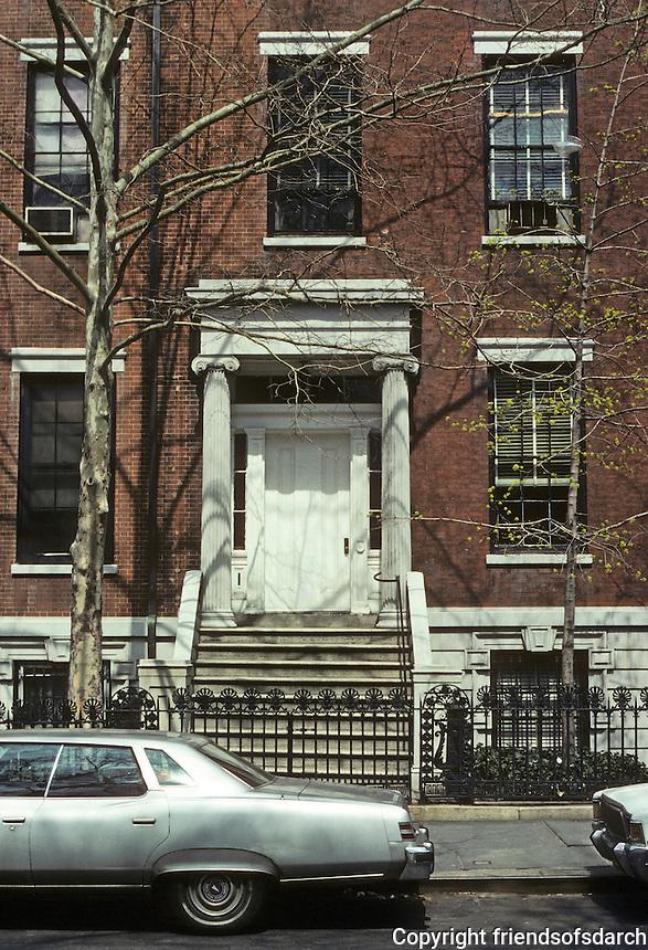New York City: Doorway, Washington Square North, 1830's. Photo '78.