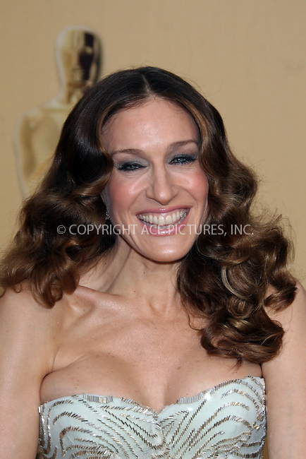 WWW.ACEPIXS.COM . . . . .  ....February 22, 2009. Hollywood, CA....Actress Sarah Jessica Parker arrives at the 81st Annual Academy Awards held at the Kodak Theater on February 22, 2009 in Hollywood, CA.......Please byline: Z09- ACEPIXS.COM.... *** ***..Ace Pictures, Inc:  ..Philip Vaughan (646) 769 0430..e-mail: info@acepixs.com..web: http://www.acepixs.com