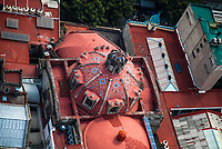 high angle view of the Historic Center of Mexico City.  Iglesia, religion (Photo: Luis Gutierrez / NortePhoto.com)<br /> vista de angulo alto del centro Historico de la Ciudad de Mexico. (Foto: Luis Gutierrez / NortePhoto.com)