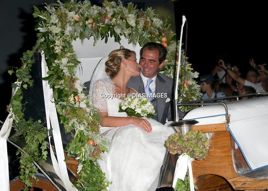 "PRINCE NIKOLAOS AND TATIANA BLATNIK WEDDING.St Nikolaos Church, Spetses, Greece_25/08/2010.Mandatory Credit Photo: ©DIASIMAGES..**ALL FEES PAYABLE TO: ""NEWSPIX INTERNATIONAL""**..IMMEDIATE CONFIRMATION OF USAGE REQUIRED:.Newspix International, 31 Chinnery Hill, Bishop's Stortford, ENGLAND CM23 3PS.Tel:+441279 324672  ; Fax: +441279656877.Mobile:  07775681153.e-mail: info@newspixinternational.co.uk"
