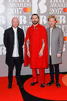 www.acepixs.com<br /> <br /> February 22 2017, London<br /> <br /> Biffy Clyro arriving at The BRIT Awards 2017 at The O2 Arena on February 22, 2017 in London, England.<br /> <br /> By Line: Famous/ACE Pictures<br /> <br /> <br /> ACE Pictures Inc<br /> Tel: 6467670430<br /> Email: info@acepixs.com<br /> www.acepixs.com