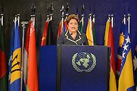 RIO DE JANEIRO-22/06/2012-Presidenta Dilma Rousseff na Cerimonia de Encerramento do Rio 20 no Rio Centro, Barra da Tijuca, zona oeste do Rio.Foto:Marcelo Fonseca-Brazil Photo Press