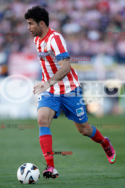 Atletico de Madrid's Diego Costa during La Liga match.April 14,2013. (ALTERPHOTOS/Acero)