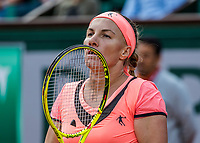 Paris, France, 4 June, 2017, Tennis, French Open, Roland Garros, Svetlana Kuznetsova (RUS)<br /> Photo: Henk Koster/tennisimages.com