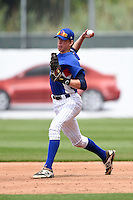 Cole Murphy (33) of Walnut Hills High School in Cincinnati, Ohio playing for the Chicago Cubs scout team during the East Coast Pro Showcase on July 31, 2014 at NBT Bank Stadium in Syracuse, New York.  (Mike Janes/Four Seam Images)