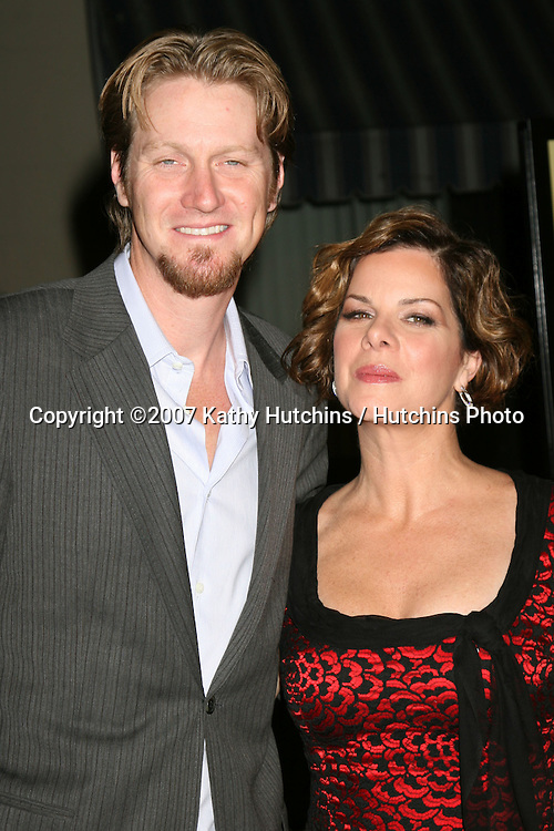 "Marcia Gay Harden & Her husbandm Thaddaeus Scheel.""Rails & Ties"" Premiere.Stephen J. Ross Theater.Warner Brothers Lot.Burbank,  CA.October 23, 2007.©2007 Kathy Hutchins / Hutchins Photo...               ."