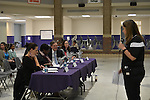 The judges were Jim Nicolas and Carla Hamilton from Capital One; Mary Mettenbrink from Young Audiences; and Dr. Carolyn Nichol from Rice University.