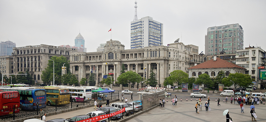 The Bank's Office Building On The Hankou (Hankow) Bund Somewhat Dwarfs Taikoo House To The Right.  The National City Bank Of New York Is To The Left.