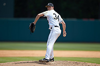 Army Black Knights starting pitcher Matt Ball (34) in action against the North Carolina State Wolfpack at Doak Field at Dail Park on June 3, 2018 in Raleigh, North Carolina. The Wolfpack defeated the Black Knights 11-1. (Brian Westerholt/Four Seam Images)