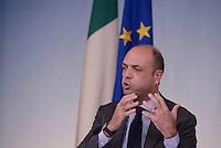 Roma, 6 Novembre 2015<br /> Il Ministro Angelino Alfano.<br /> Conferenza stampa a Palazzo Chigi al termine del CdM n° 89