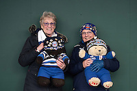 Bath Rugby supporters pose for a photo prior to the match. European Rugby Challenge Cup match, between Bath Rugby and Pau (Section Paloise) on January 21, 2017 at the Recreation Ground in Bath, England. Photo by: Dean McLachlan for Onside Images