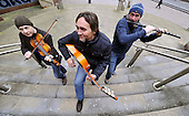 Celtic Connections 2013 started today (Thu 17th) with an impromptu performance from the great flamenco guitar player Vicente Amigo on the steps of Glasgow 's Royal Concert Hall. Collaboration has traditionally been a core element of the festival and Vicente Amigo's concert Tierra (named after his recent album) is a perfect example of this Vicente joining forces with some regular Celtic Connections musicians - Michael McGoldrick (flute) and John McCusker (fiddle) to produce a unique fusion of flamenco and Celtic music. This year's festival will celebrate 20 years as a cornerstone of Scotland 's cultural calendar with a programme of the very best in folk roots world traditional indie blues and jazz music. Celtic Connections 2013 will take place over 18 days in various venues across the city - picture by Donald MacLeod -17.01.13 - 07702 319 738 - clanmacleod@btinternet.com - www.donald-macleod.com