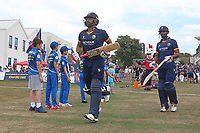 Tamim Iqbal (L) and Varun Chopra of Essex walk out to bat during Kent Spitfires vs Essex Eagles, NatWest T20 Blast Cricket at The County Ground on 9th July 2017