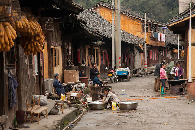 The small rural village of Shiqiao is known for the production of paper from mulberry bark.