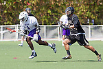 Orange, CA 05/16/15 - Kris Holland (Grand Canyon #1) and Hart Wise (Colorado #32) in action during the 2015 MCLA Division I Championship game between Colorado and Grand Canyon, at Chapman University in Orange, California.