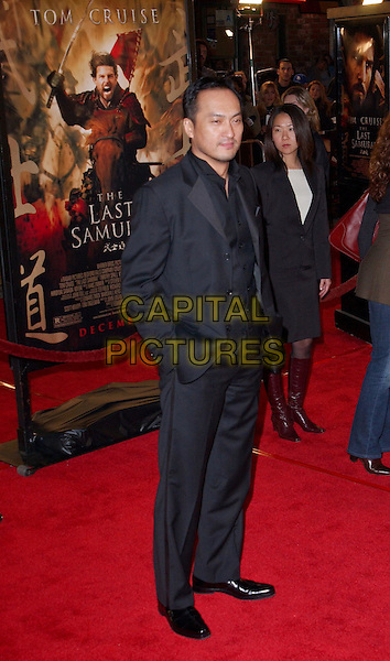 KEN WATANABE.attends the Warner Brother's The Last Samurai U.S. Premiere held at The Mann Village Theater in Westwood . .01/12/2003.full length, full-length .www.capitalpictures.com.sales@capitalpictures.com.©Capital Pictures.