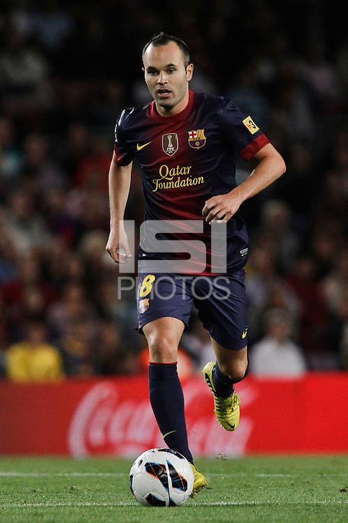 02/09/2012 - Liga Football Spain, FC Barcelona vs. Valencia CF Matchday 3 - Andres Iniesta, spanish player for FC Barcelona