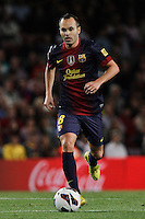 02/09/2012 - Liga Football Spain, FC Barcelona vs. Valencia CF Matchday 3 - Andres Iniesta, spanish player for FC Barcelona