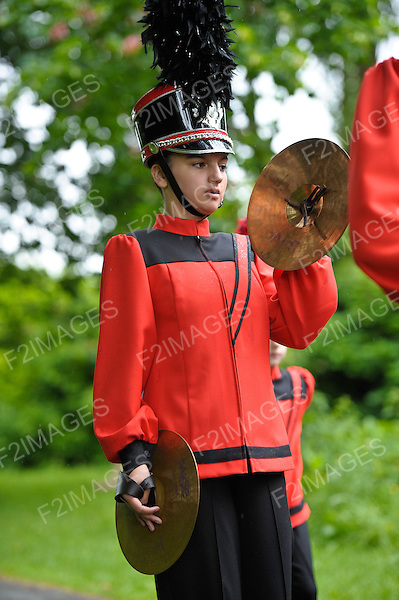 Marching Bands on Parade. Pictured during a competition in north west England