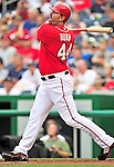 15 August 2010: Washington Nationals first baseman Adam Dunn in action against the Arizona Diamondbacks at Nationals Park in Washington, DC. The Nationals defeated the Diamondbacks 5-3 to take the rubber match of their 3-game series. Mandatory Credit: Ed Wolfstein Photo