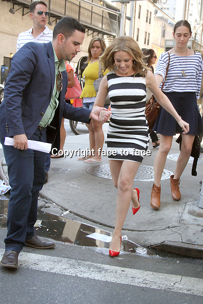 NEW YORK, NY - JUNE 19: Kylie Minogue seen in New York City. on her way to an appearance on Entertainment Tonight. June 19, 2013.<br />