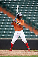Gabriel Paulino (13) at bat during the Dominican Prospect League Elite Underclass International Series, powered by Baseball Factory, on July 21, 2018 at Schaumburg Boomers Stadium in Schaumburg, Illinois.  (Mike Janes/Four Seam Images)