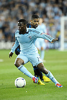 Sporting KC midfielder Peterson Joseph (19) in action..Sporting Kansas City defeated Philadelphia Union 2-1 at LIVESTRONG Sporting Park, Kansas City, KS.