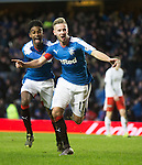 Billy King celebrates his goal with Gedion Zelalem