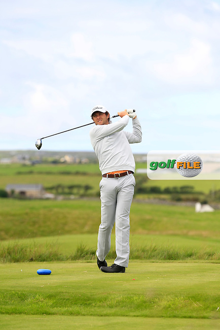 Robert Cannon (Balbriggan) on the 14th tee during Round 2 of The South of Ireland in Lahinch Golf Club on Sunday 27th July 2014.<br /> Picture:  Thos Caffrey / www.golffile.ie
