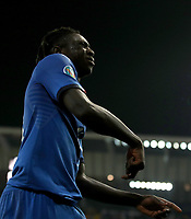 Football: Euro 2020 Group J qualifying football match Italy vs Finland at the Friuli Stadium in Udine on march  23, 2019<br /> Italy's Moise Kean celebrates after scoring during the Euro 2020 qualifying football match between Italy and Finland at the Friuli Stadium in Udine, on march 23, 019<br /> UPDATE IMAGES PRESS/Isabella Bonotto