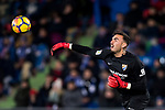 Goalkeeper Roberto Jimenez Gago of Malaga CF during the La Liga 2017-18 match between Getafe CF and Malaga CF at Coliseum Alfonso Perez on 12 January 2018 in Getafe, Spain. Photo by Diego Gonzalez / Power Sport Images
