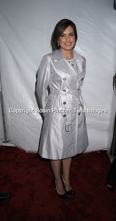 Mariska Hargitay in Naem Khan dress..posing for photographers at The NBC Universal Experience of their Fall 2008-2009 schedule on May 12, 2008 at Rockefeller Center. Stars from NBC, USA, Bravo, Scifi, Oxygen, Telemundo and mun2 were there. ....Robin Platzer, Twin Images