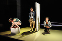 Edinburgh, UK. 07.08.2015. Traverse Theatre Company presents SWALLOW, by Stef Smith, as part of the Edinburgh Festival Fringe. Directed by Orla O'Loughlin, designed by Fred Meller, with lighting design by Philip Gladwell. Picture shows: Emily Watcher, Sharon Duncan-Brewster and Anita Vettesse. Photograph © Jane Hobson.