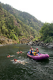 USA, Oregon, Wild and Scenic Rogue River in the Medford District, swimming near Paradise Waterfall