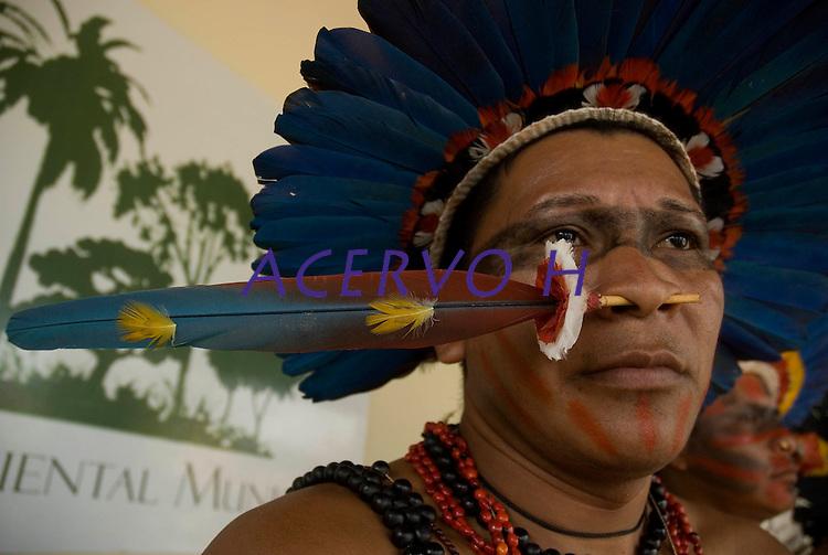 X JOGOS DOS POVOS INDÍGENAS <br /> Manoki Irantxe.<br /> Os Jogos dos Povos Indígenas (JPI) chegam a sua décima edição. Neste ano 2009, que acontecem entre os dias 31 de outubro e 07 de novembro. A data escolhida obedece ao calendário lunar indígena. com participação  cerca de 1300 indígenas, de aproximadamente 35 etnias, vindas de todas as regiões brasileiras. <br /> Paragominas , Pará, Brasil.<br /> Foto Paulo Santos<br /> 03/11/2009