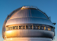 The dome of an observatory on Mauna Kea, Big Island of Hawai'i.