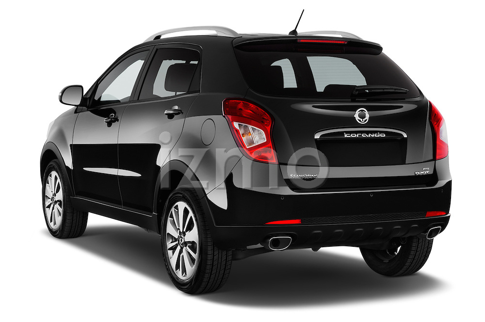 Car pictures of rear three quarter view of2014 Ssangyong Korando Sapphire 5 Door SUV Angular Rear