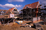 A912W1 New private housing estate being constructed Rendlesham Suffolk England
