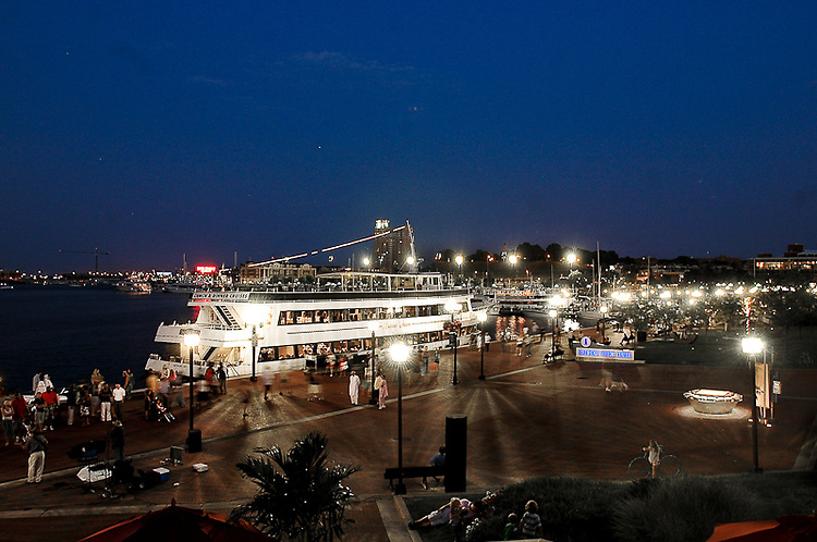 Baltimore Inner Harbor at night. Professional Image Photography by John Drew.