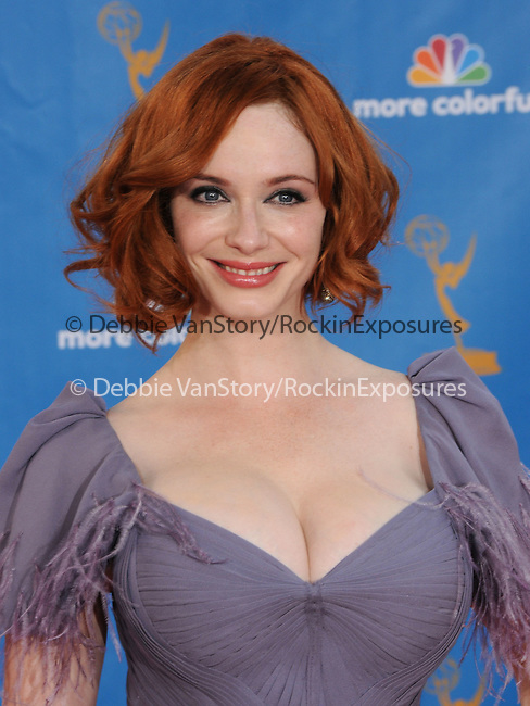 Christina Hendricks ..  at The 62nd Anual Primetime Emmy Awards held at Nokia Theatre L.A. Live in Los Angeles, California on August 29,2010                                                                   Copyright 2010  DVS / RockinExposures