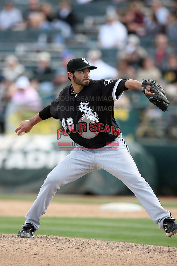 Jeff Marquez. Chicago White Sox spring training game vs. Oakland Athletics at Phoenix Municipal Stadium, Phoenix, AZ - 03/10/2010.Photo by:  Bill Mitchell/Four Seam Images.