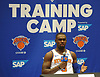 Tim Hardaway, Jr. of the New York Knicks fields questions during the team's Media Day held at Madison Square Garden Training Center in Greenburgh, NY on Monday, Sept. 24, 2018.
