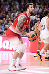 EA7 Emporio Armani Milan's Miroslav Raduljica during Turkish Airlines Euroleage match between Real Madrid and EA7 Emporio Armani Milan at Wizink Center in Madrid, Spain. January 27, 2017. (ALTERPHOTOS/BorjaB.Hojas)