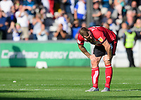 Lincoln City's Michael O'Connor at the end of the game<br /> <br /> Photographer Chris Vaughan/CameraSport<br /> <br /> The EFL Sky Bet League One - Lincoln City v Bristol Rovers - Saturday 14th September 2019 - Sincil Bank - Lincoln<br /> <br /> World Copyright © 2019 CameraSport. All rights reserved. 43 Linden Ave. Countesthorpe. Leicester. England. LE8 5PG - Tel: +44 (0) 116 277 4147 - admin@camerasport.com - www.camerasport.com