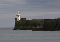 The light showing at the mouth of Aberdeen Harbour.