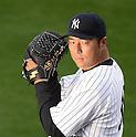 Hiroki Kuroda (Yankees),<br /> FEBRUARY 22, 2014 - MLB :<br /> Hiroki Kuroda of the New York Yankees poses for a photo day during the New York Yankees spring training baseball camp in Tampa, Florida, United States. (Photo by AFLO)