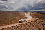 Car racer Sebastien Loeb from France drinving his Peugeot - Total - Red Bull car during the 5th stage of the Dakar Rally 2016 in the Bolivian Altiplano.