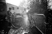 post race cleaning<br /> <br /> Koppenbergcross 2014
