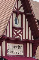 France, Calvados (14), Côte Fleurie, Trouville-sur-Mer,  la Halle aux poissons de Trouville-sur-Mer //  France, Calvados, Côte Fleurie, Trouville sur Mer,  Trouville sur Mer , the fish market s