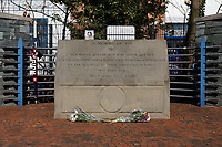 The memorial outside the stadium prior the Sky Bet Championship match between Sheffield Wednesday and Swansea City at Hillsborough Stadium, Sheffield, England, UK. Saturday 23 February 2019
